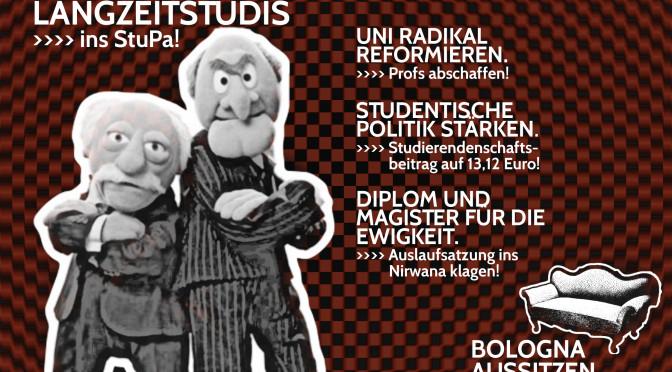"""Langzeitstudis gg. Studiengebühren"" ins StuPa TU Berlin"